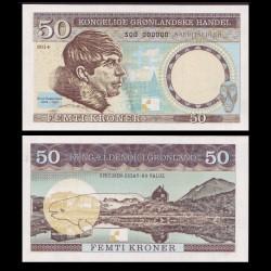 GROENLAND - Billet de 50 Kroner - Knud Rasmussen - 2014 0010 - Gabris