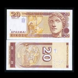 GRECE - Billet de 20 Drachmes - Déesse Héra - 2014