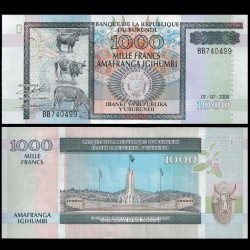 BURUNDI - Billet de 1000 Francs - 1.7.2000