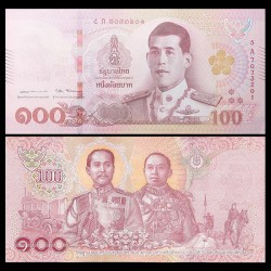 THAILANDE - Billet de 100 Baht - 2018