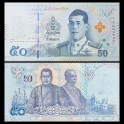 THAILANDE - Billet de 50 Baht - 2018