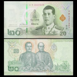 THAILANDE - Billet de 20 Baht - 2018