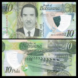 BOTSWANA - Billet de 10 Pula - Polymer - 2018