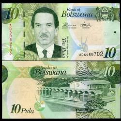 BOTSWANA - Billet de 10 Pula - 2014