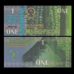 MACHU PICCHU - Billet INCA de 1 Machu Picchu - 2016