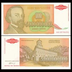 YOUGOSLAVIE - Billet de 5000000000 Dinara - 1993
