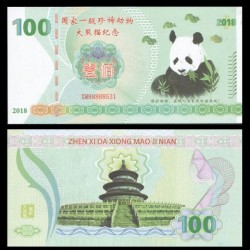 CHINE - Billet de 100 Yuan - Panda - 2018