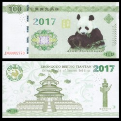 CHINE - Billet de 100 Yuan - Panda - 2017
