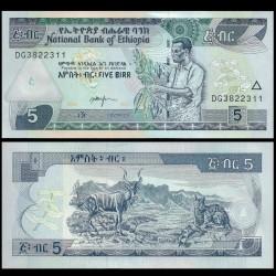 ETHIOPIE - Billet de 5 Birr - 2017 P47h