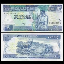 ETHIOPIE - Billet de 5 Birr - 2015
