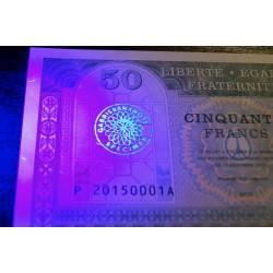 FRANCE - Billet de 50 Francs - JE SUIS PARIS - 2015