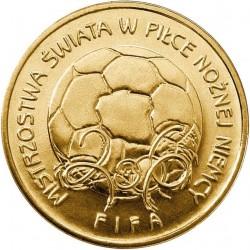 POLOGNE - PIECE de 2 ZLOTE - La Coupe du Monde de la FIFA: Allemagne - 2006