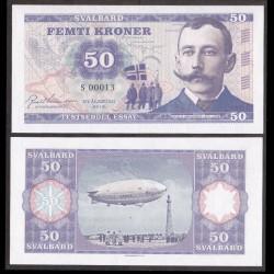 SVALBARD - Billet de 50 Kroner - Roald Amundsen - 2015 0050 - Gabris