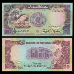 SOUDAN - BILLET de 20 Livres Soudanaises - 1991