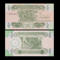 IRAK - Billet de 1/4 Dinar - Guerre du Golfe - 1993
