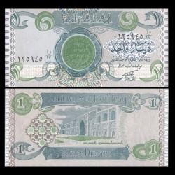 IRAK - Billet de 1 Dinar - Guerre du Golfe - 1993