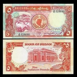 SOUDAN - BILLET de 5 Livres Soudanaisess - 1991