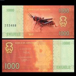 ANNOBON - Billet de 1000 Ekuele - Série insectes - 2013 1000