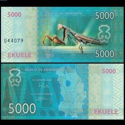 ANNOBON - Billet de 5000 Ekuele - Série insectes - 2013 5000