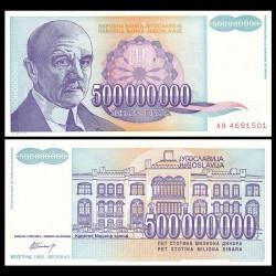 YOUGOSLAVIE - Billet de 500000000 Dinara - Jovan Cvijić - 1993