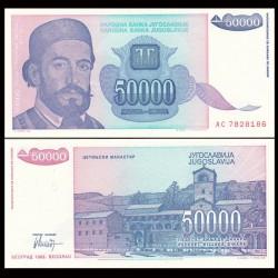YOUGOSLAVIE - Billet de 50000 Dinara - Petar II Petrović-Njegoš - 1993