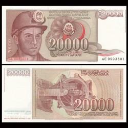 YOUGOSLAVIE - Billet de 20000 Dinara - Mineur - 1987