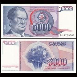 YOUGOSLAVIE - Billet de 5000 Dinara - Josip Broz Tito - 1985