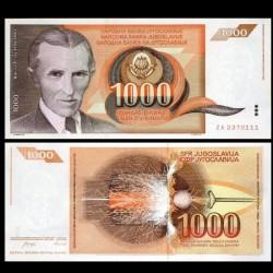 YOUGOSLAVIE - Billet de 1000 Dinara - Nikola Tesla - Billet de remplacement - 1990