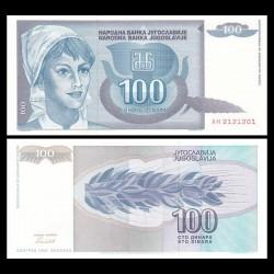 YOUGOSLAVIE - Billet de 100 Dinara - 1992
