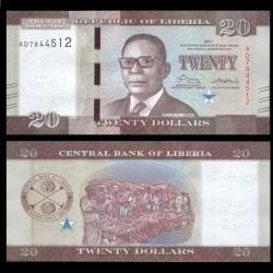 LIBERIA - Billet de 20 DOLLARS - 2017