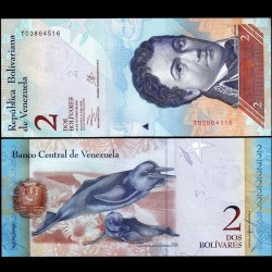 VENEZUELA - Billet de 2 Bolivares - 29 10 2013