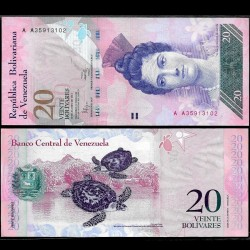 VENEZUELA - Billet de 20 Bolivares - 19 08 2014