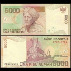 INDONESIE - Billet de 5000 Rupiah - 2001 / 2007 P142g