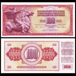 YOUGOSLAVIE - Billet de 100 Dinara - 1 VIII 1965 P80c