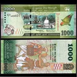 SRI LANKA - Billet de 1000 Roupies - 70 ans de l'indépendance - 2018