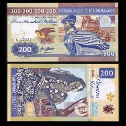 PITCAIRN - Billet de 200 Dollars - Bateau Bounty - Vahiné - 2018
