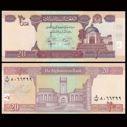 AFGHANISTAN - Billet de 20 Afghanis - 2004