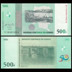 CONGO - BILLET de 500 Francs - 50ème anniversaire de l'indépendance - 2010