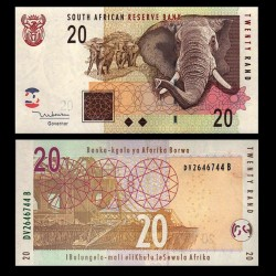 AFRIQUE DU SUD - Billet de 20 Rand - Elephants - 2005