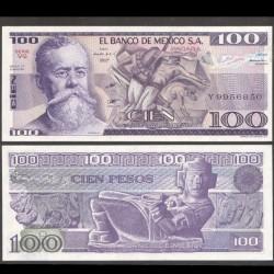 MEXIQUE - BILLET de 100 Pesos - Venustiano Carranza - 1982