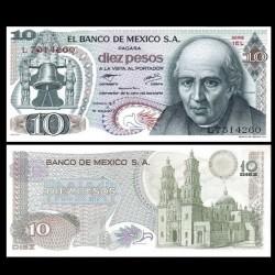 MEXIQUE - Billet de 10 Pesos - Miguel Hidalgo y Costilla - 18.02.1977