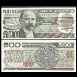 MEXIQUE - BILLET de 500 Pesos - 1984