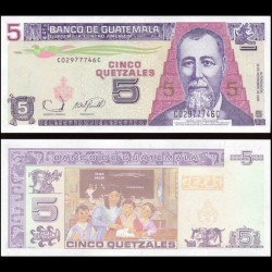 GUATEMALA - Billet de 5 Quetzales - 22.11.2006