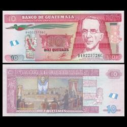 GUATEMALA - Billet de 10 Quetzales - 19.05.2010