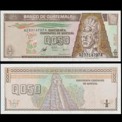 GUATEMALA - Billet de 50 Centavos de Quetzal - 09.01.1998
