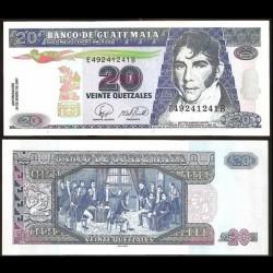 GUATEMALA - Billet de 20 Quetzales - 24.01.2007