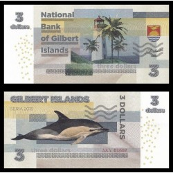 GILBERT ISLANDS / KIRIBATI- Billet de 3 Dollars - Dauphin - 2015