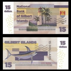 GILBERT ISLANDS / KIRIBATI- Billet de 15 Dollars - Espadon - 2015