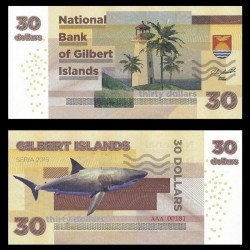 GILBERT ISLANDS / KIRIBATI- Billet de 30 Dollars - Requin - 2015