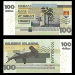 GILBERT ISLANDS / KIRIBATI- Billet de 100 Dollars - Requin Marteau- 2015